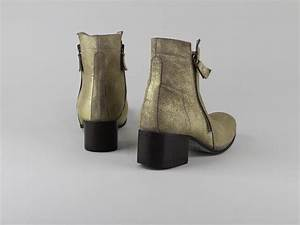 Chaussures Atelier Voisin / ORLANE / Boots Or Velours Brillant