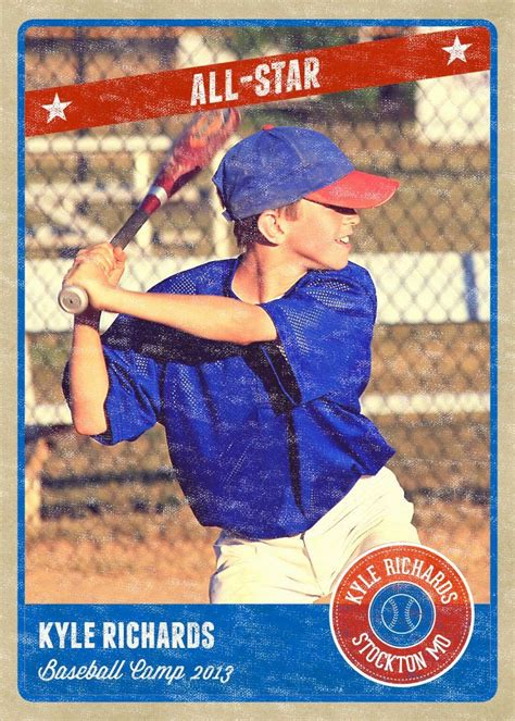 Unopened baseball cards collection in 50 factory sealed packs from the mid 1980s and early 1990s. Baseball Card Size Template Awesome Graphy Card Template Retro Sports Baseball   Baseball card ...