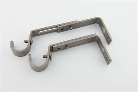 rod desyne adjustable curtain rod brackets rod desyne 1912s decorative 3 4 quot rod single bracket pair