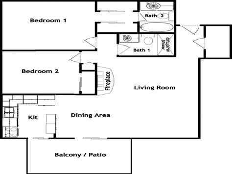 2 bed 2 bath house plans 2 bedroom 2 bath apartment floor plans 2 bed 2 bath house