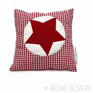 Kissen Mit Stern : kleines kissen mit stern rot becki design ~ Markanthonyermac.com Haus und Dekorationen