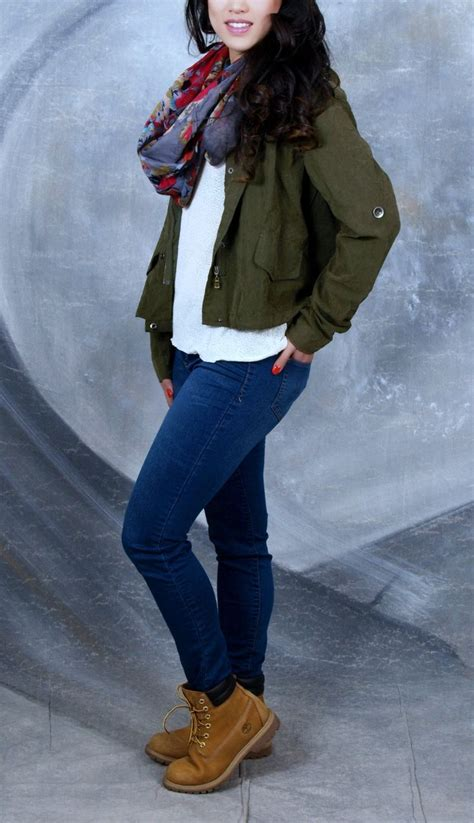 Women timberland fashion outfit sweater and jacket brandy melville scarf zumiez jeans target ...