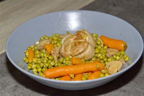 cuisiner petit pois en boite paupiettes aux petits pois carottes recettes cookeo