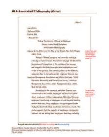 MLA Format Annotated Bibliography Example