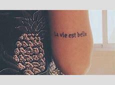 Tatouage Cuisse Phrase Anglais Tattooart Hd