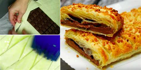 fourrez du chocolat dans une p 226 te feuillet 233 e le r 233 sultat une merveille la recette
