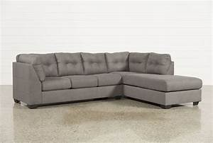 Maier Charcoal 2 Piece Sectional W/Raf Chaise - Living Spaces