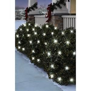 holiday time 70 count led net christmas lights pure white walmart com