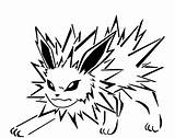 Jolteon Coloring Fur Pokemon Sharp Pages Glaceon Template sketch template