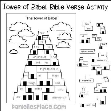 bible themes tower or babel 790 | tower bable verse pic