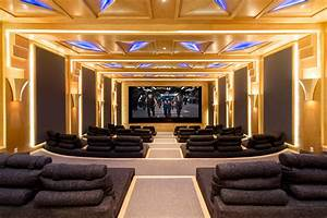 Beverly hills luxury home theatre all things luxury for Art deco cinema interior
