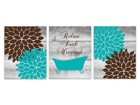 Teal Brown Bathroom Decor by Brown And Teal Bathroom Decor Relax Soak Unwind By