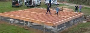 Construire Une Terrasse En Bois Sur Dalle Béton by Ar Pont C Hoat La Dalle Bois Ti An Tri Femoc H Bihan