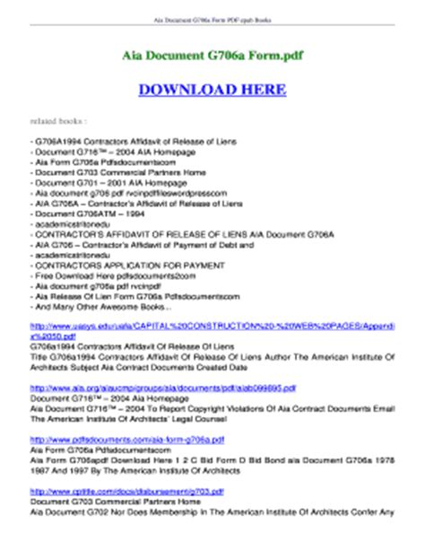 aia g707 form download fillable online ebookread ebook aia document g706a form