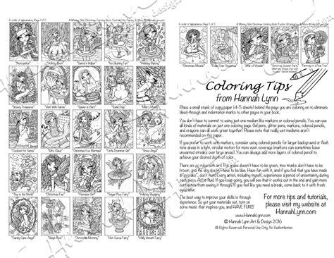 Pdf A Whimsy Girls Christmas Coloring Book--instant Download
