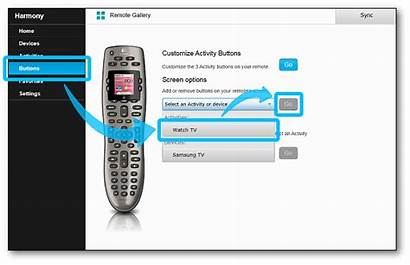 Screen Myharmony Remote Customize Activity Button Buttons
