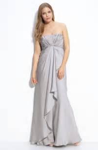 lhuillier bridesmaid dress silver strapless empire bridesmaid dress by lhuillier onewed