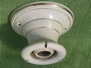antique porcelain ceiling light fixture w pattern
