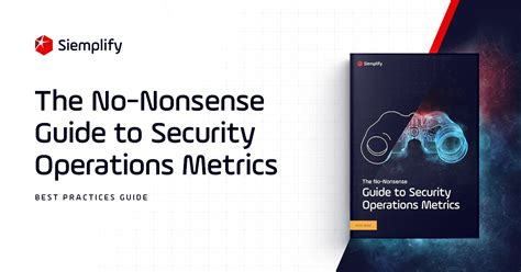 nonsense guide  security operations metrics