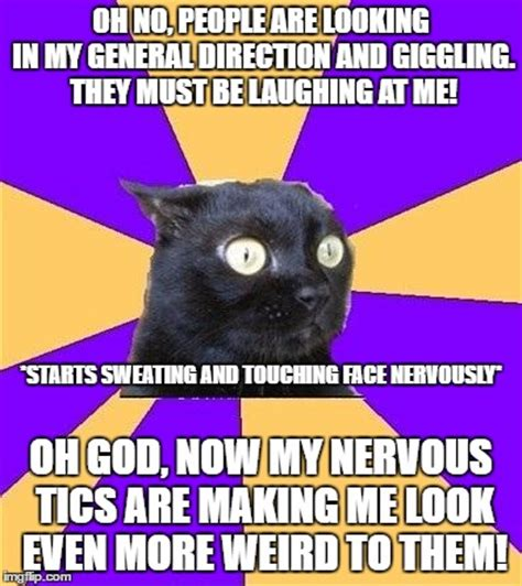 Social Anxiety Meme - social anxiety cat meme www pixshark com images galleries with a bite