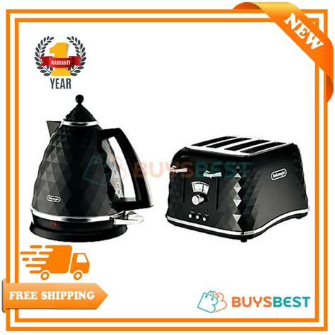 toaster and kettle set delonghi delonghi electric kettle and toaster set brillante 4 slice