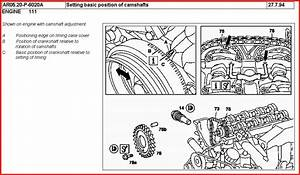 How  Where  Do You Align The Cams On A Mercedes C220  1995