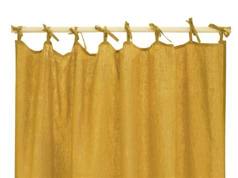 papier peint uni pour cuisine rideau moutarde rideau lavé de 2m20 x votre hauteur fabriqué en