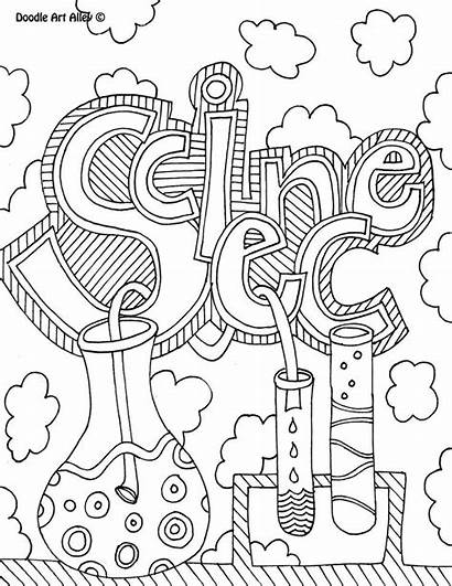 Science Coloring Pages Notebook Binder Covers Journal