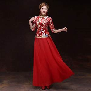 free shipping robe chinoise traditional femme chinese With robe col chinois