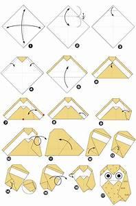 Origami Animaux Facile Gratuit : hibou en origami ~ Dode.kayakingforconservation.com Idées de Décoration
