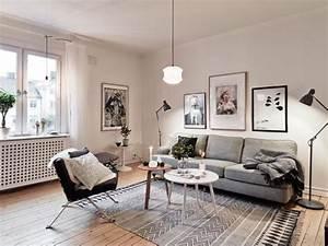 Les meubles scandinaves beaucoup d39idees en photos for Tapis moderne avec canapé ossature bois
