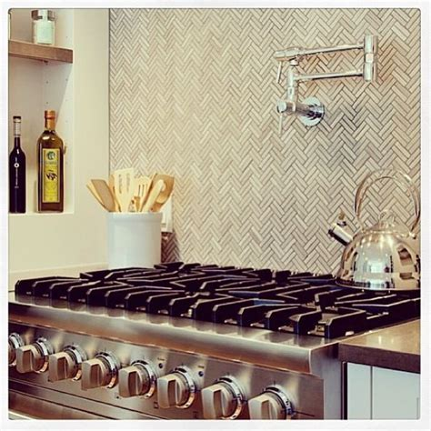 herringbone backsplash tile herringbone kitchen tile backsplash dwell pinterest