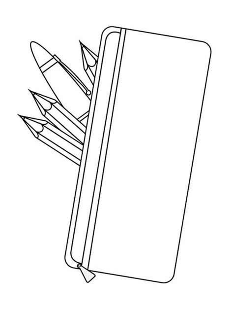 pencil template pencil coloring pages