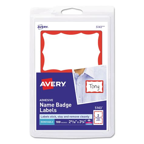 avery badge labels printable adhesive name badges by avery 174 ave5143 ontimesupplies com