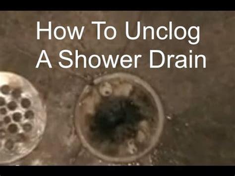 unclogging  shower drain   unclog  shower drain