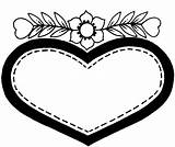 Coloring Heart Pages Printable sketch template