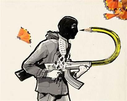 Powerful Drawings Charlie Hebdo Respond Tragedy Artists