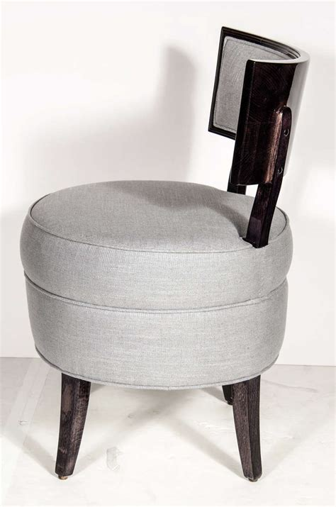 mid century klismos style vanity stool chair in the manner