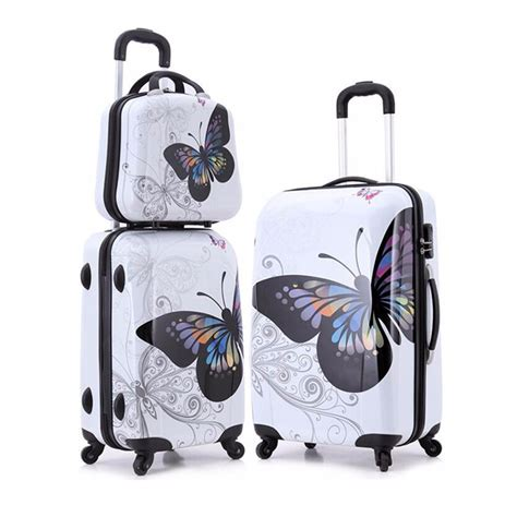 cheap luggage sets willibag womens luggage sets lightweight fashion printed