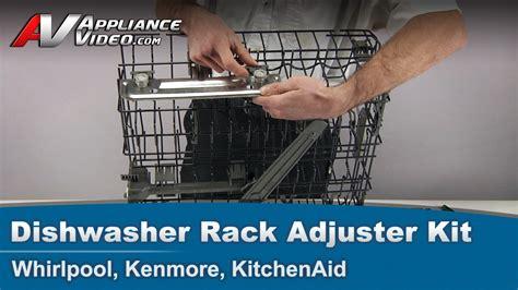 whirlpool kenmore kitchenaid dishwasher rack adjustment kit  rail vrack appliance video