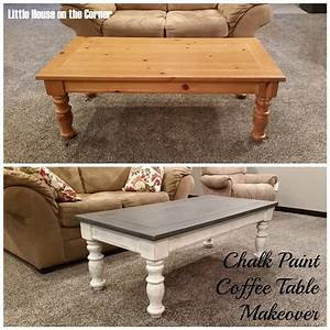 little house on the corner chalk paint coffee table makeover With how to paint a coffee table with chalk paint