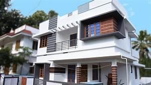 1400, Square, Feet, 3, Bedroom, Double, Floor, Modern, House, Design