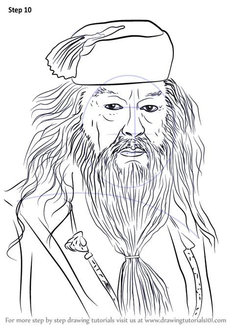 learn   draw albus dumbledore  harry potter harry potter step  step drawing tutorials