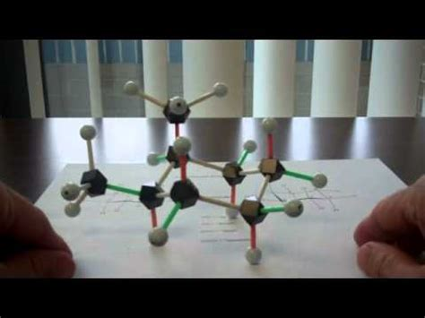 Chair Cyclohexane Model Kit by Flipping The Cyclohexane Chair