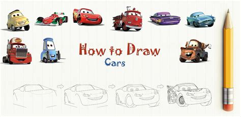 cars characters drawings how to draw cars movie characters amazon co uk appstore
