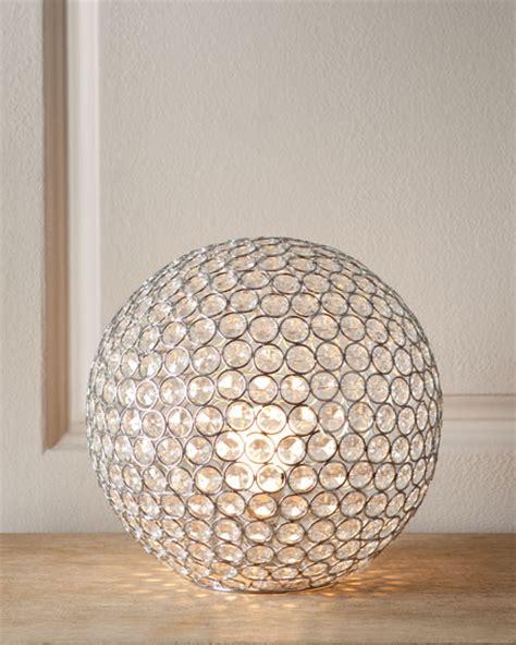 bosley crystal ball lamp