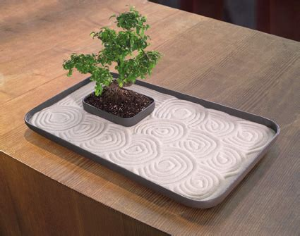 large indoor zen garden kit  tabletop  sand