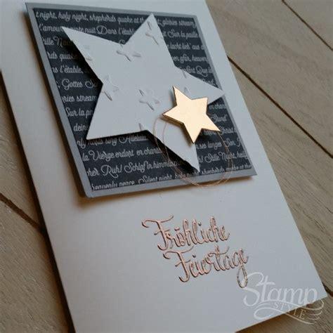 edle weihnachtskarten basteln