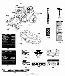 Simplicity 2691327-00  48 U0026quot  Fabricated Mower Deck Parts Diagram