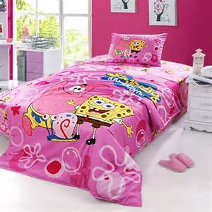 pink spongebob bedding